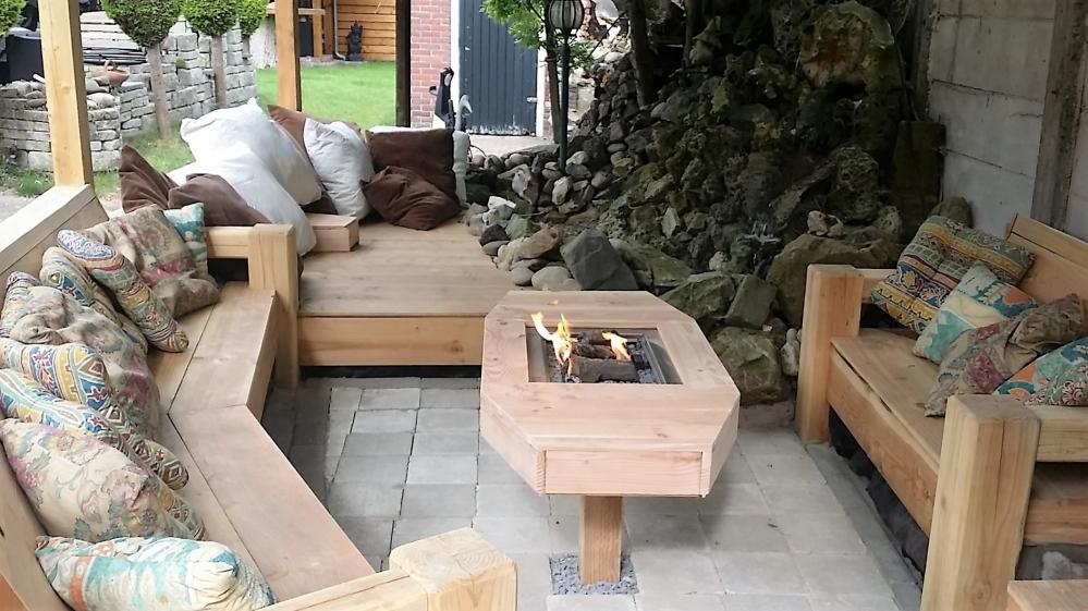 Hout alkumon - Deco lounge hout ...